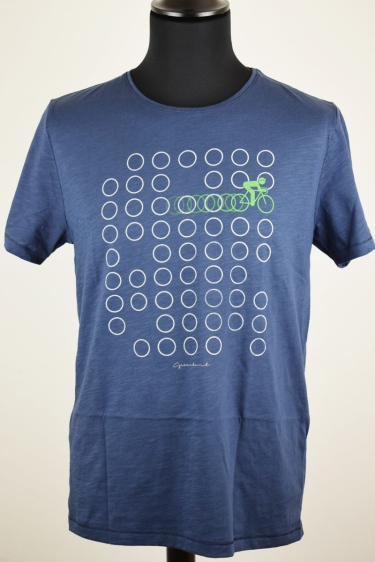 "T-Shirt ""Bike Rings"" Bio - blau"