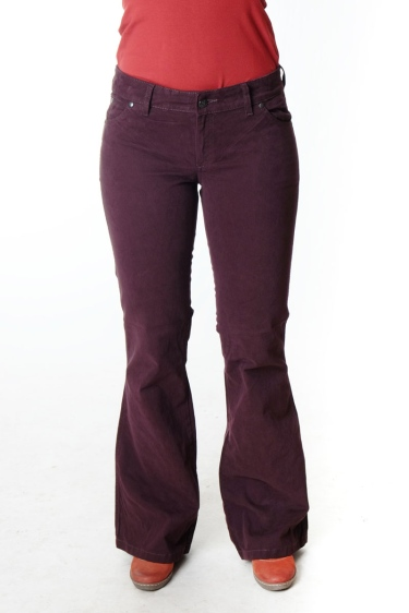 "Hose Wally ""Jane"" Bootcut BW - aubergine"