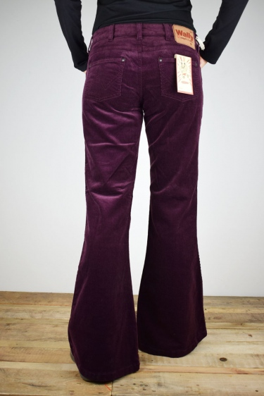 "Mrs.Hippie Schlaghose ""Jane"" flare in aubergine"