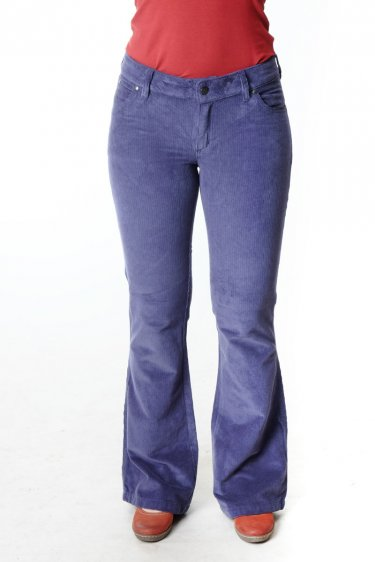 "Hose Wally ""Jane"" Bootcut Cord - blau"