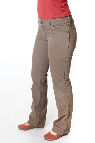 "Hose Wally ""Jane"" Straight BW - braun Nadelstreifen"
