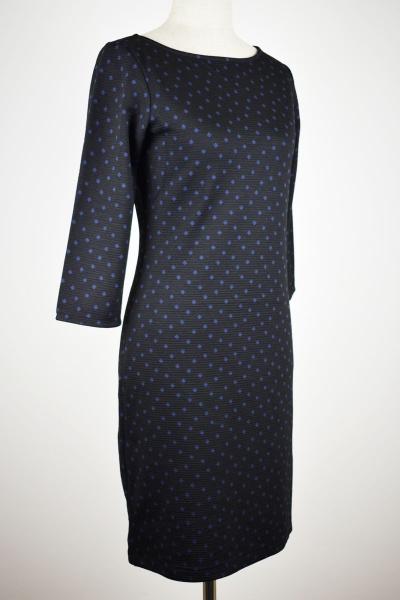 """Geh-Bunt   Kleid """"Hilde"""" - schwarz / blau"""